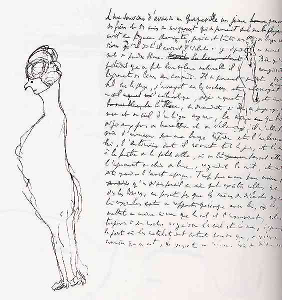 Un disegno di Proust